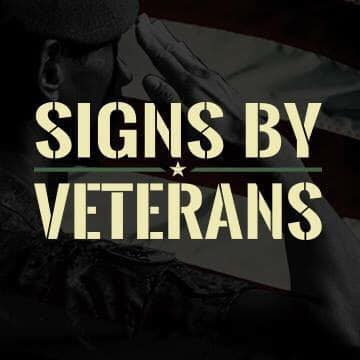 signs by veterans